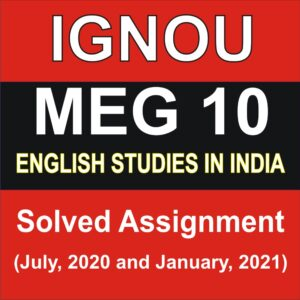 MEG 10 Solved Assignment 2020-2021