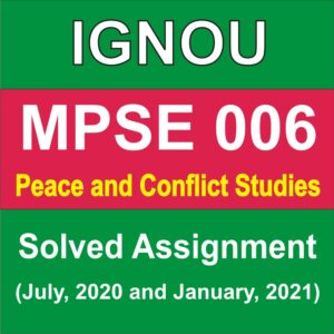 MPSE 006 Peace and Conflict Studies Study Notes