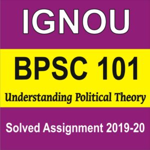 BPSC 101 Understanding Political Theory , BPSC 101, BPSC Solved Assignment