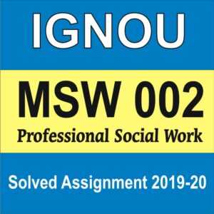 MSW 002 Professional Social Work