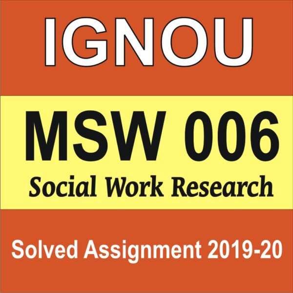 MSW 006 Social Work Research