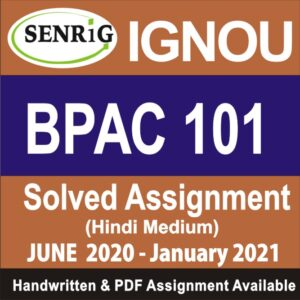 ignou; sc-101 ignou assignment; nou solved assignment free of cost