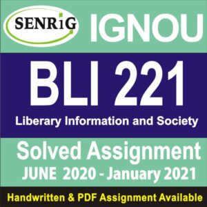 bli-221 ignou solved assignment free; is solved assignment 2020; i-221 solved assignment; nou assignment 2020-21 blis; is 221 solved assignment; is 221 solved assignment free; nou blis practical assignment; is 225 solved assignment