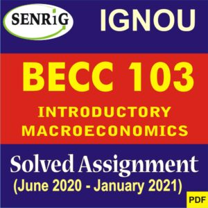 BECC 103 INTRODUCTORY MACROECONOMICS SOLVED ASSIGNMENT 2020-21 (ENGLISH MEDIUM)