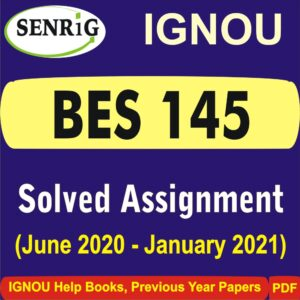 BES 145 Solved Assignment 2020-21 in Hindi Medium