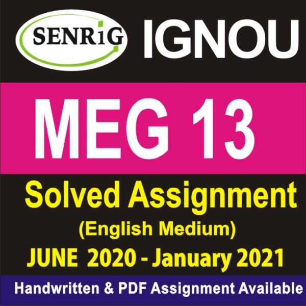 MEG 13 Solved Assignment 2020-21 : WRITINGS FROM THE MARGINS