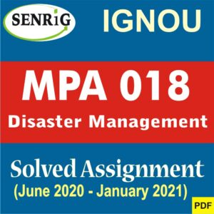 MPA 018 Solved Assignment 2020-21 in English Medium   Available Now on Senrig.in