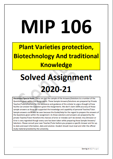 MIP 106 Solved Assignment 2020-21 in English Medium; ignou solved assignment 2020-21 free download pdf; ignou solved assignment 2020-21 download pdf; ignou solved assignment 2020 free download pdf; ignou ba solved assignment 2020-21; eso 15 solved assignment 2020-21; ignou solved assignment 2020-21 in hindi; ignou assignment guru 2020-21; ignou mcom solved assignment 2020-21 free download