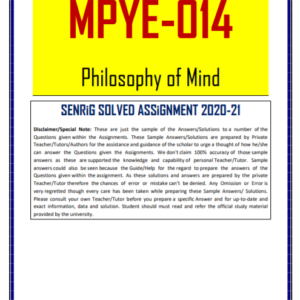 MPYE 014 Solved Assignment 2020-21 In English Medium; ignou mapy solved assignment pdf; ignou ma philosophy solved assignment pdf; ignou m com 1st year solved assignment 2020-21; ignou m com solved assignment 2020-21 free download; ignou mapy assignment 2020; m com 2nd year solved assignment 2020-21; ignou assignments for mapy; ignou assignment mgp-005