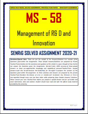 MS 58 Solved Assignment in English Medium; ms 58 material equivalent; ms-58 solved assignment; ms-58 ignou study material; ms 58 question paper; ms-58 ignou book; ms58 ball valve; cuzn 39 pb 2; ms-95 ignou study material