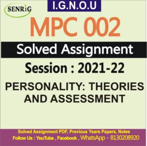 MPC 002 Solved Assignment 2021-22
