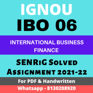 IBO 06 Solved Assignment 2021-22 In English Medium; ignou mcom assignment 2021; mco-06 solved assignment 2020-21; ignou m com assignment 2021-22; ibo-6 solved assignment 2019-20; guffo in; distinguish between translation exposure
